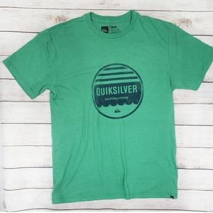Quicksilver Green Graphic Tee